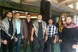 حضور قهرمانان المپیک و جهان در راهپیمایی اربعین حسینی