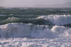 دریای خزر توفانی