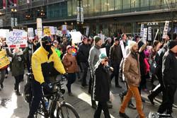 برگزاری تظاهرات علیه رئیس جمهور منتخب مقابل «برج ترامپ» در شیکاگو