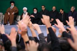 Students held Arbaeen mourning ceremony before Ayatollah Khamenei
