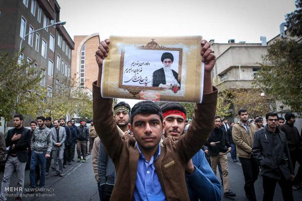 مراسم عزاء الطلاب الايرانيين في الأربعين الحسيني