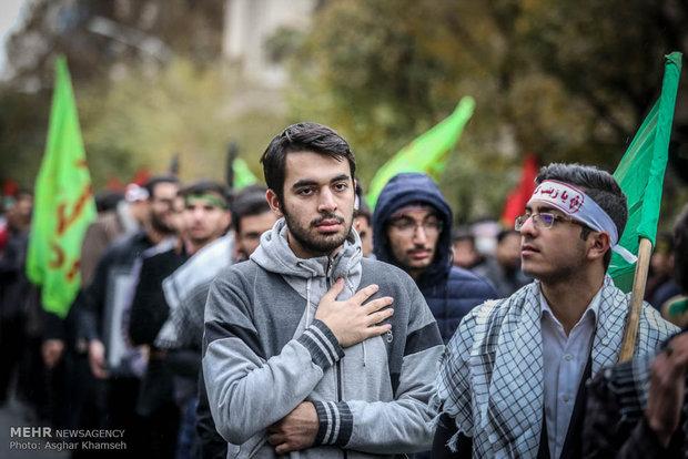 Arbaeen rally of Iranian students