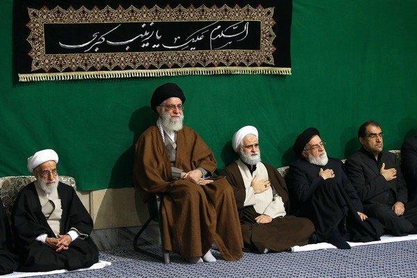 مراسم عزاداری هیئتهای دانشجویی در حضور رهبر انقلاب برگزار شد