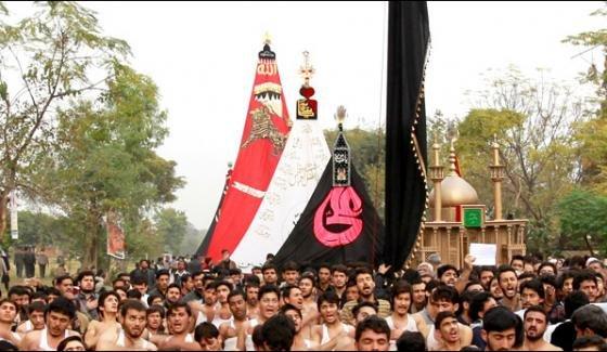 پاکستان بھر میں شہدائے کربلا کا چہلم مذہبی عقیدت اور احترام کے ساتھ منایا جارہا ہے