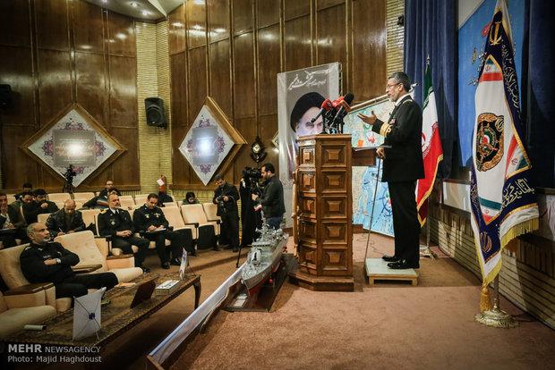 Iran's Navy Cmdr. holds presser