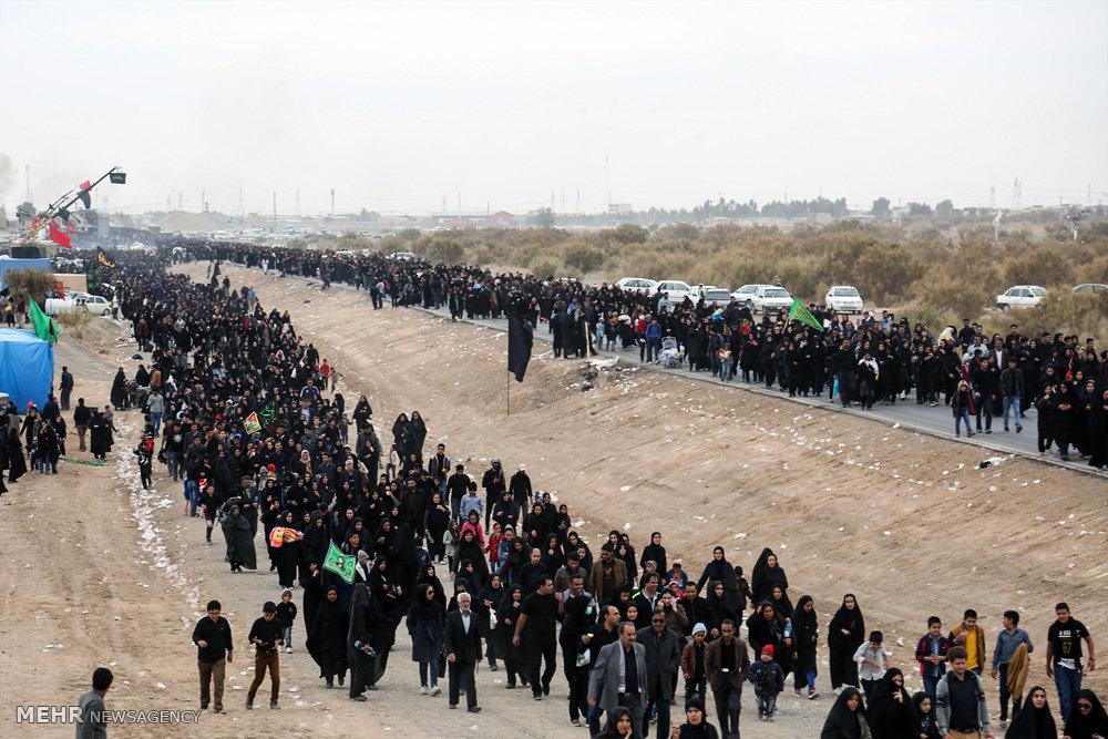 مراسم پیاده روی اربعین حسینی در سیرجان