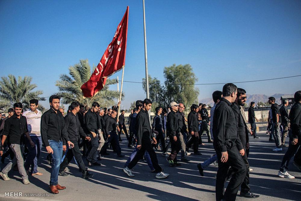 مراسم پیاده روی اربعین حسینی در لارستان