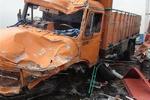سکته راننده سبب برخورد کامیون با درخت شد/راننده جان سپرد