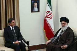 Slovenian President and his entourage met with Ayatollah Khamenei