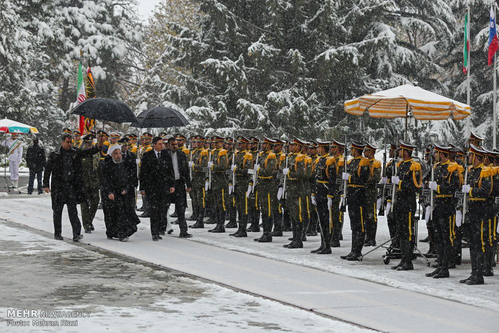 مراسم استقبال رسمی از رییس جمهور اسلوونی