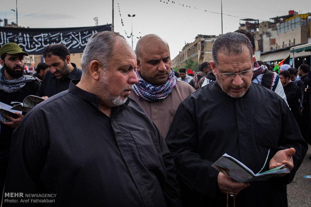 حال و هوای کربلای معلی در ایام اربعین حسینی / راهپیمایی اربعین ۵۵