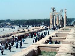 Tourists visit Persepolis