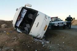 کراپشده - واژگونی اتوبوس زائران کربلا در کرمانشاه