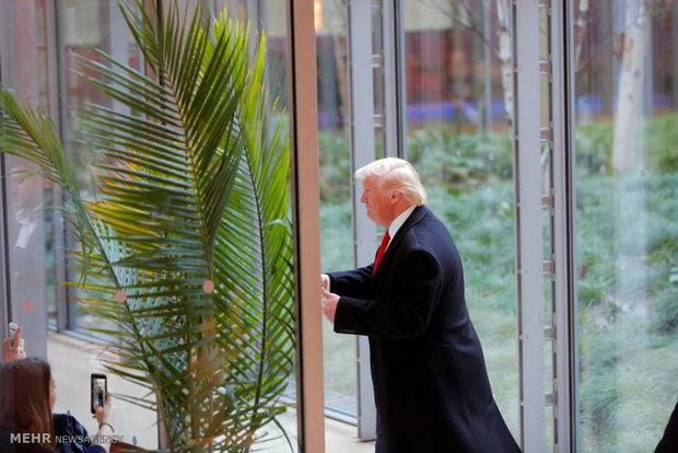 دیدار ترامپ با رسانه ها