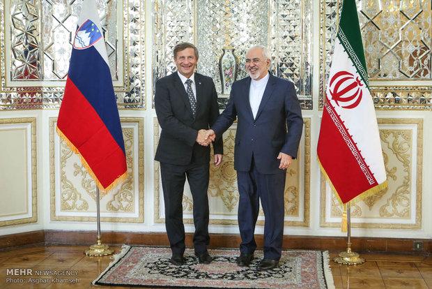 FM Zarif meets Slovenian counterpart
