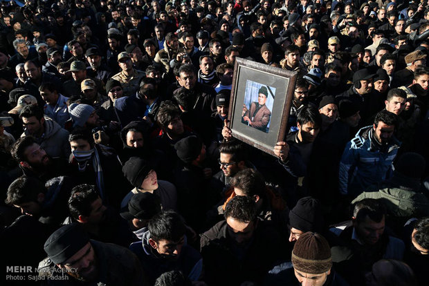 Funeral ceremony of Salim Moazzenzadeh