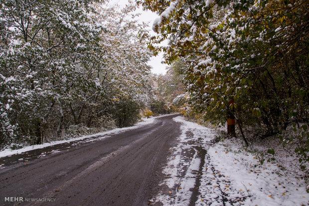 بارش برف پاییزی در گرگان