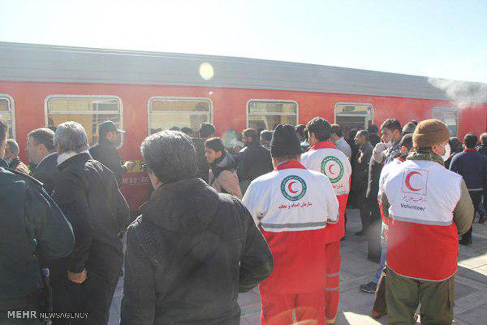 برخورد دو رام قطار مسافربری در استان سمنان