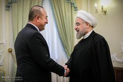 دیدار وزیر خارجه ترکیه با رییس جمهور