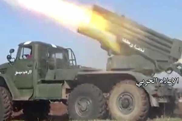 فلم/ حماہ میں دہشت گردوں کے خلاف آپریشن جاری