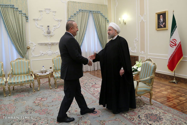 President Rouhani met with Turkish Foreign Minister