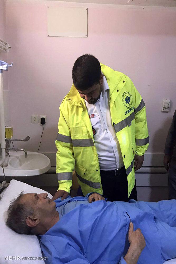 عیادت سرپرست اورژانس کشور از مصدومان حادثه ریلی سمنان