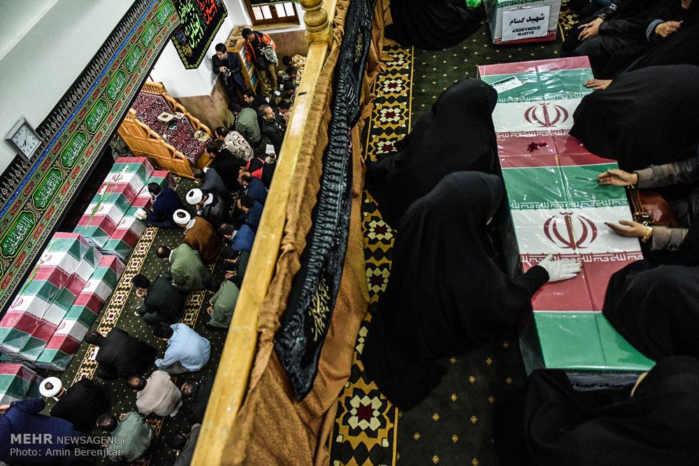 استقبال از پیکر ۱۱ شهید گمنام در شیراز