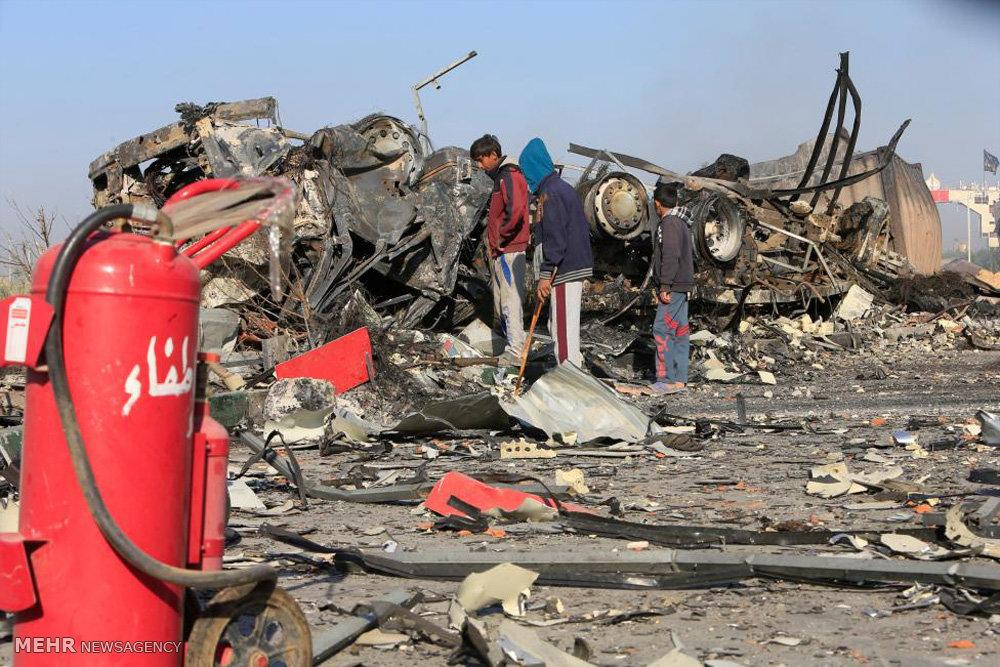 تصاویر دلخراش از انفجار حله
