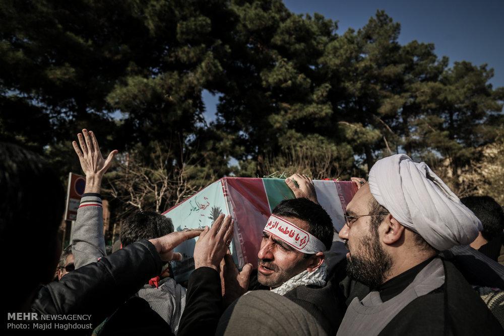 تشییع و خاکسپاری پیکر شهید گمنام در کوی دانشگاه تهران