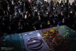 تشییع دو شهید گمنام در تهران