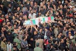 پیکر دو شهید گمنام در شهرستان جم خاکسپاری شد