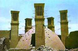 A brick water reservoir in Yazd