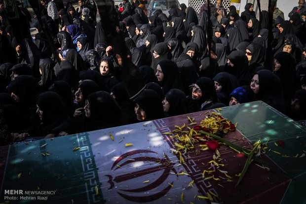 Funeral for unknown martyrs in Tehran