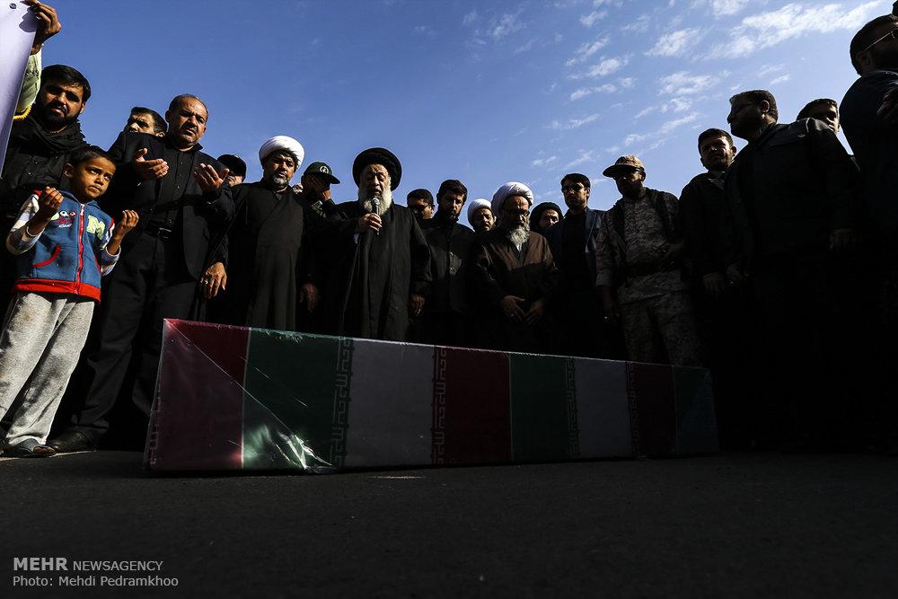 تشییع و تدفین پیکرهای مطهر ۲ شهید گمنام دفاع مقدس در خوزستان