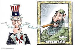 درگذشت فیدل کاسترو از نگاه کاریکاتوریستها