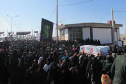 پیکر مطهر ۲ شهید گمنام در شهر علی اکبر شهرستان هامون تشییع شد