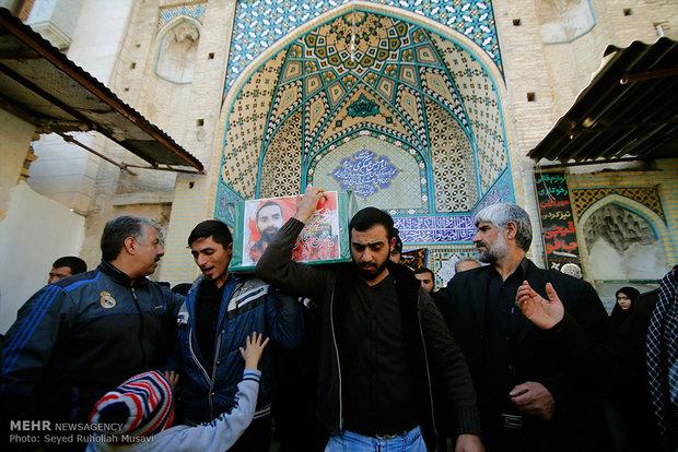 تصاویر/ مراسم تشییع پیکر مطهر ۷ شهید مدافع حرم در قم