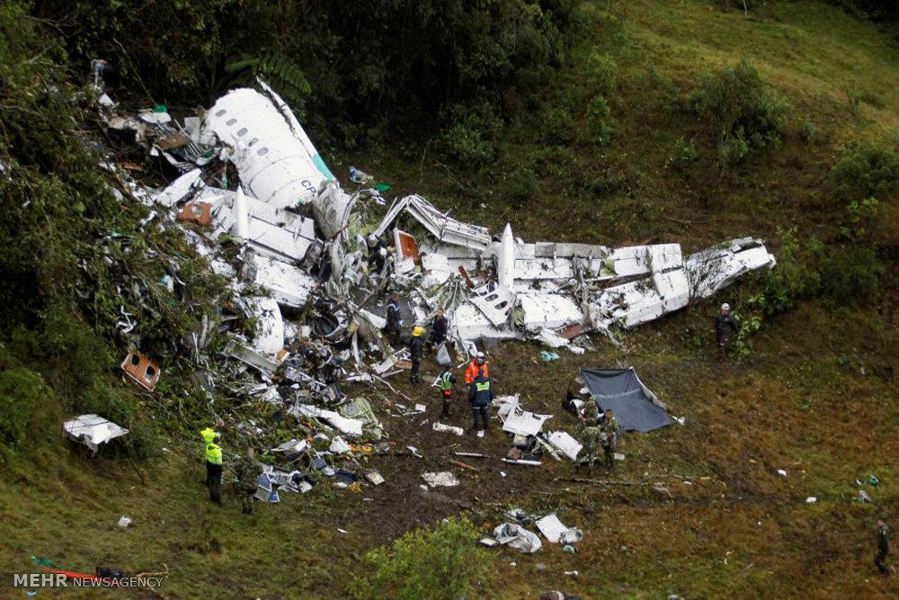 سقوط هواپیمای مسافربری در کلمبیا