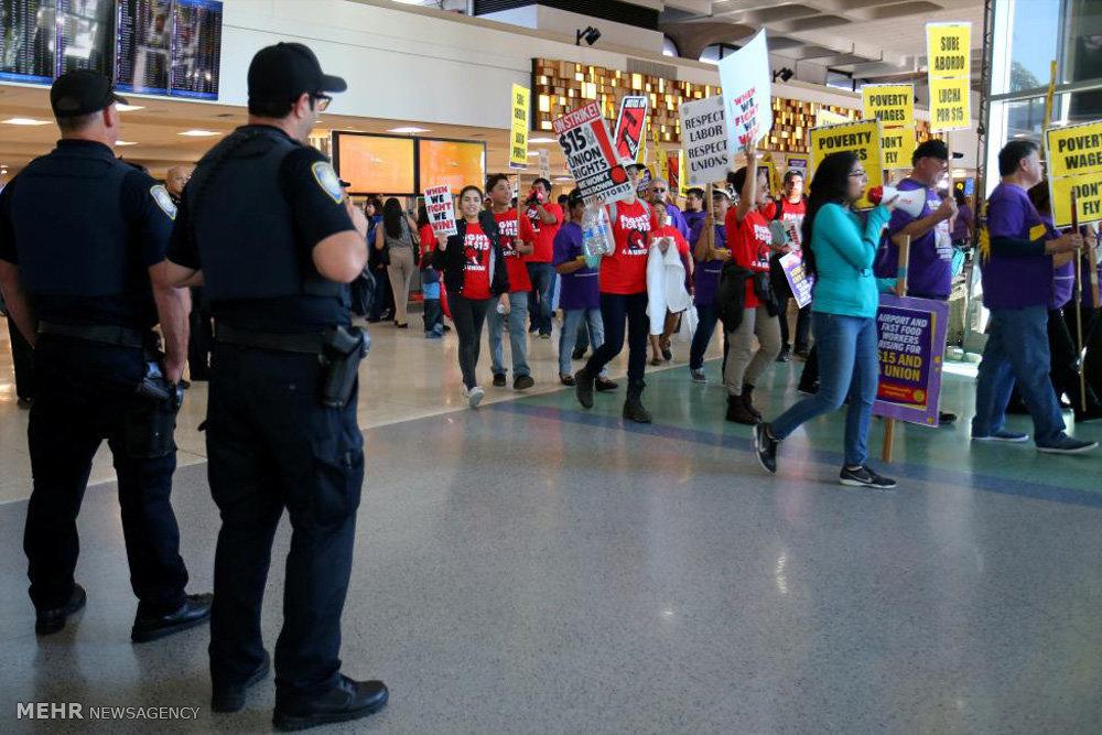 اعتراض به دستمزدهای پایین در آمریکا