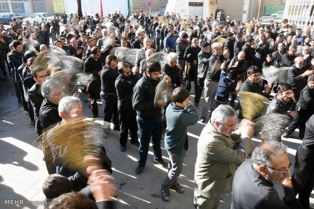 مراسم سوگواری شهادت امام رضا(ع) در شهرضا اصفهان