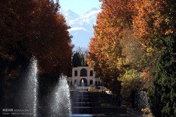 Autumn nature in Shazdeh Garden