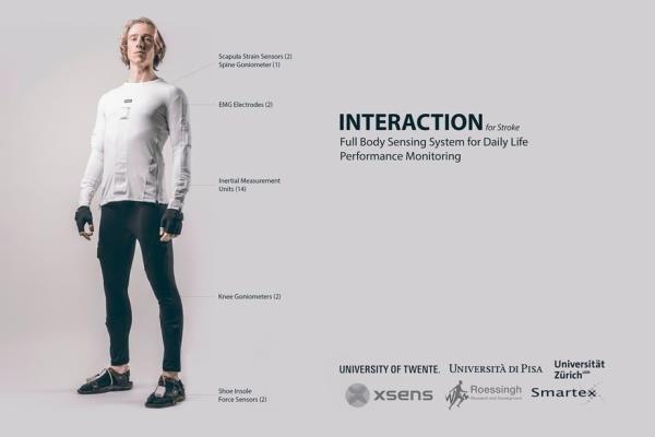لباس هوشمند برای کمک به بیماران  پس از سکته مغزی