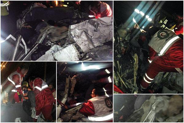 جزئیات تصادف زنجیرهای آزادراه کرج/دلیل حادثه اعلام شد