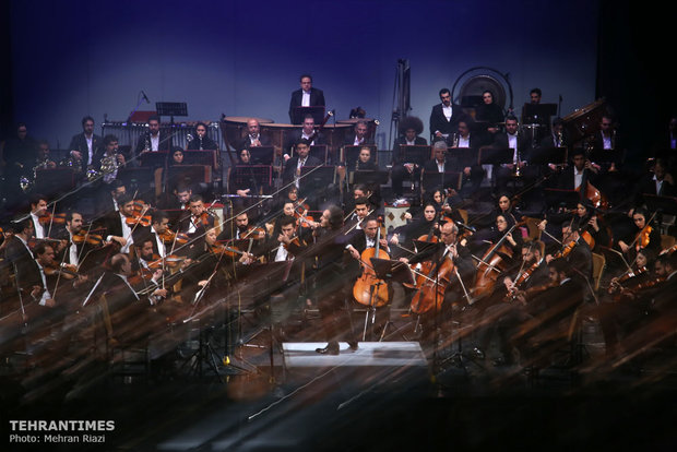 Tehran's Symphony Orchestra performs at Vahdat Hall