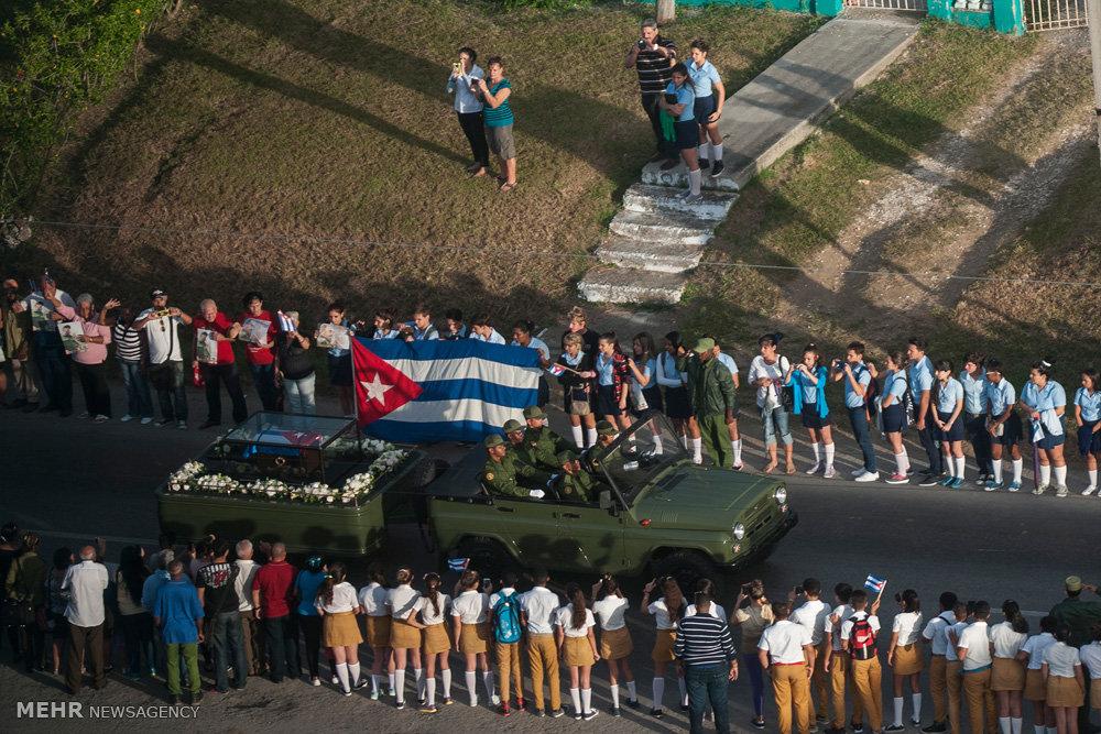 مراسم تشییع فیدل کاسترو