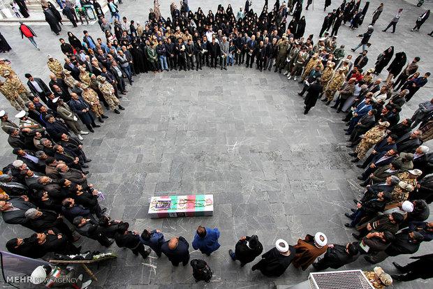 مراسم تشییع جانباز شهید محمدعلی طالبی نیا در مشهد