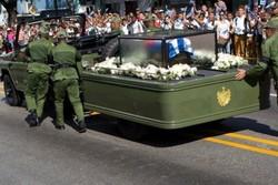خاکستر فیدل به زادگاهش رسید/وداع با رهبر انقلابی کوبا
