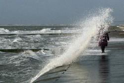 هواشناسی خلیج فارس مواج متلاطم دریا ساحل