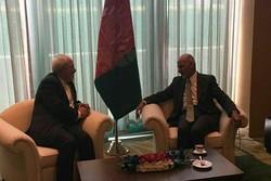 ظریف با رئیس جمهور افغانستان و وزیر خارجه قرقیزستان دیدار کرد
