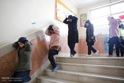 مانور سراسری زلزله در مدارس استان بوشهر برگزار شد